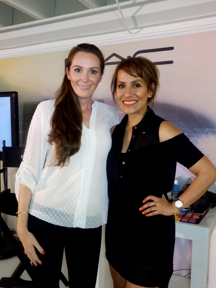 With MAC makeup artist Gisel Cavillo, at the MAC SS2013 trend presentation, Miami.