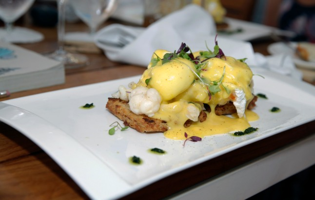 The lobster Benedict at Catch.