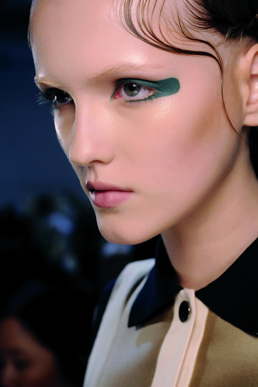 Use eyeliner creatively this season.