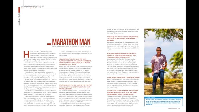 Derek Haines Marathon Man